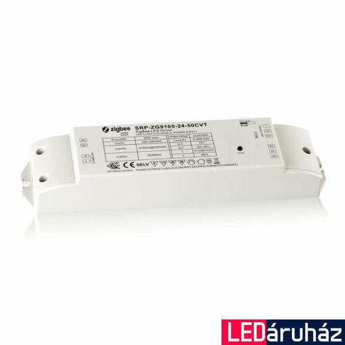 Zigbee 3.0 230V/24V 50W CCT LED szalag vezérlő  24V változtatható fehér LED szalaghoz,  Philips Hue rendszerhez, Apple HomeKit, TouchLink