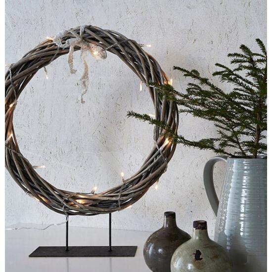 Markslöjd Kilstorp dekoráció, 35 cm, szürke rattan, beltéri
