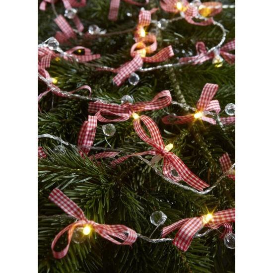 Markslöjd Rosett karácsonyi lánc, 0,8W/3xAA,190 cm, beltéri