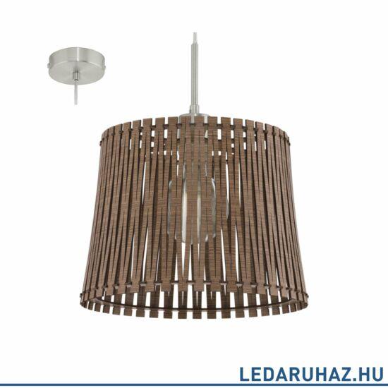 EGLO 96197 SENDERO Fa függesztett lámpa, 30 cm, sötétbarna, E27 foglalattal