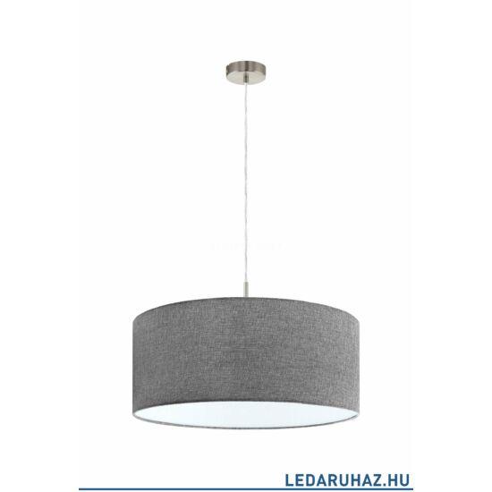 EGLO 96368 PASTERI Textil függesztett lámpa, 53 cm, szürke, E27 foglalattal