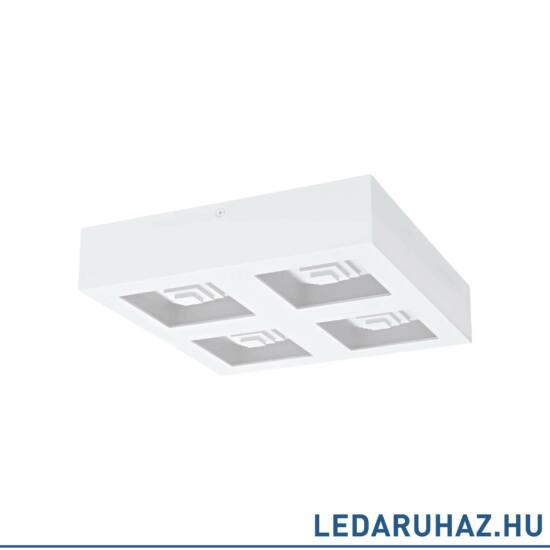 EGLO 96794 FERREROS Fehér LED mennyezeti lámpa, 27x27 cm, 4x6,3W, 3000K melegfehér, 3360 lm + ingyen szállítás