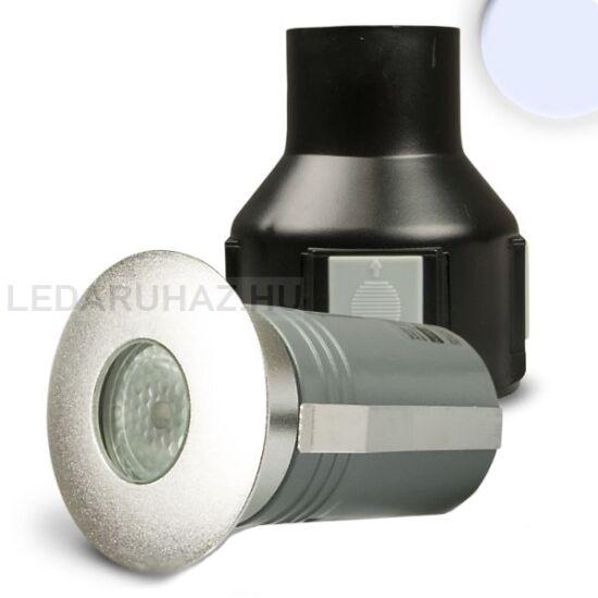 Talajba süllyeszthető LED spotlámpa, kör, rozsdamentes acél, átmérő: 56 mm – 2W hidegfehér LED