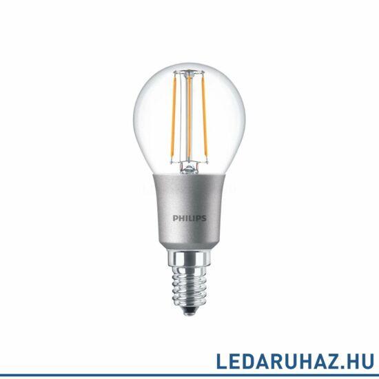 Philips FILAMENT 4,5 W E14 LED kis gömb, 470 lm, 2700K melegfehér, fényerőszabályozható
