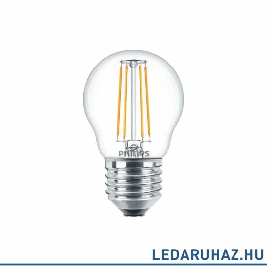 Philips FILAMENT 4 W E27 LED kis gömb, 470 lm, 2700K melegfehér