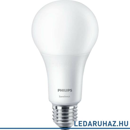 Philips LED 14W E27 LED fényforrás, 1521 lm, 2702 / 2500 / 2200K SceneSwitch