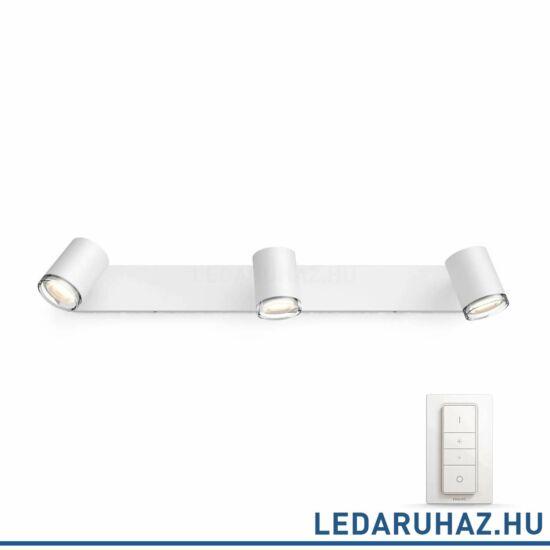 Philips Hue Adore LED lámpa, fehér, fürdőszobába, 3x5.5, 230V, IP44, 2200-6500K, +DimSwitch, 3436131P7