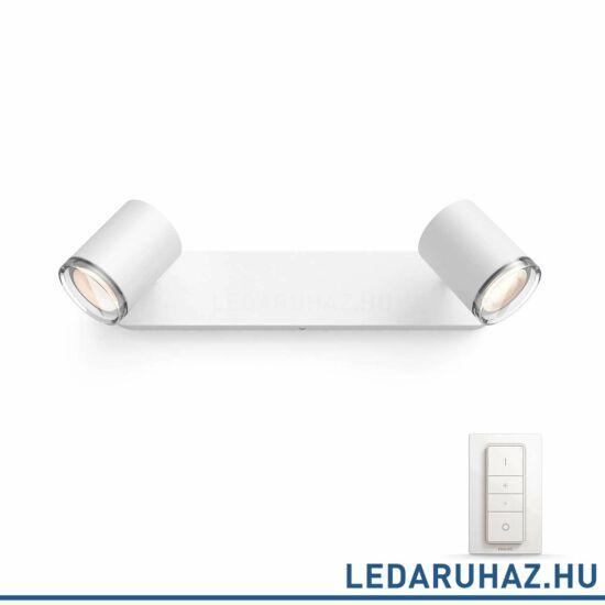 Philips Hue Adore LED lámpa, fehér, fürdőszobába, 5.5, 230V, IP44, 2200-6500K, +DimSwitch, 3436031P7