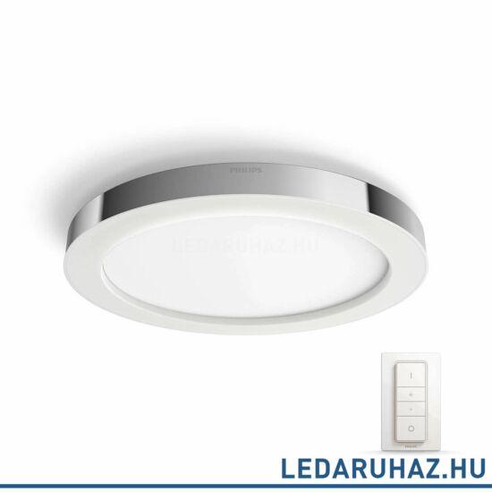 Philips Hue Adore mennyezeti fürdőszobai LED lámpa, króm, 1X40W, 24V, IP44, 2200-6500K, +DimSwitch, 3435011P7
