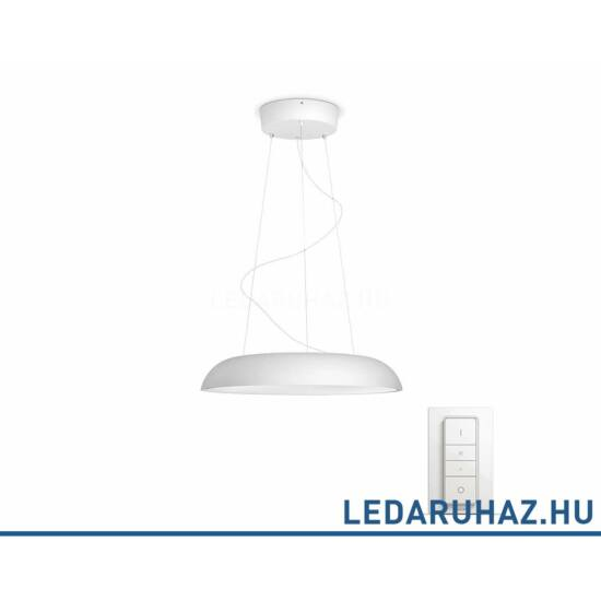 Philips Hue Amaze LED függesztett lámpa, fehér, 39W, 3000 lm@4000K, 2200K-6500K + DimSwitch, 40233/31/P7