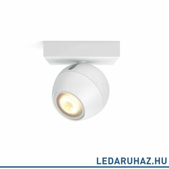 Philips Hue Buckram spotlámpa + DimSwitch, fehér, változtatható színhőmérséklet 2200-6500K, 1x5.5W, 250 lm, 50471/31/P8