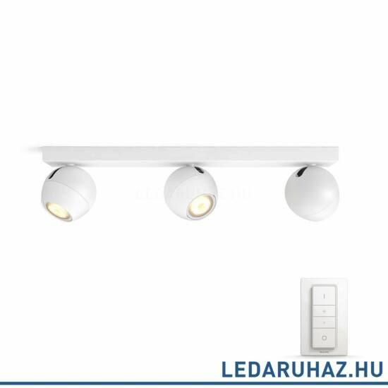 Philips Hue Buckram spotlámpa, fehér, változtatható színhőmérséklet 2200-6500K, 3x5.5W, 750 lm, 50473/31/P7