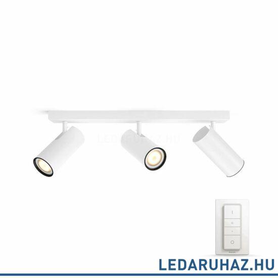 Philips Hue Buratto LED spotlámpa, fehér, változtatható színhőmérséklet 2200-6500K, 3x5.5W, 750 lm, 50463/31/P7