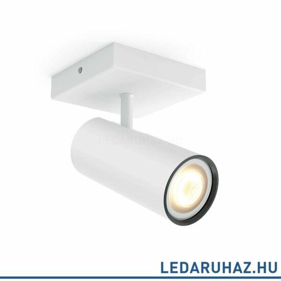 Philips Hue Buratto spotlámpa + DimSwitch, fehér, változtatható színhőmérséklet 2200-6500K, 1x5.5W, 250 lm, 50461/31/P8