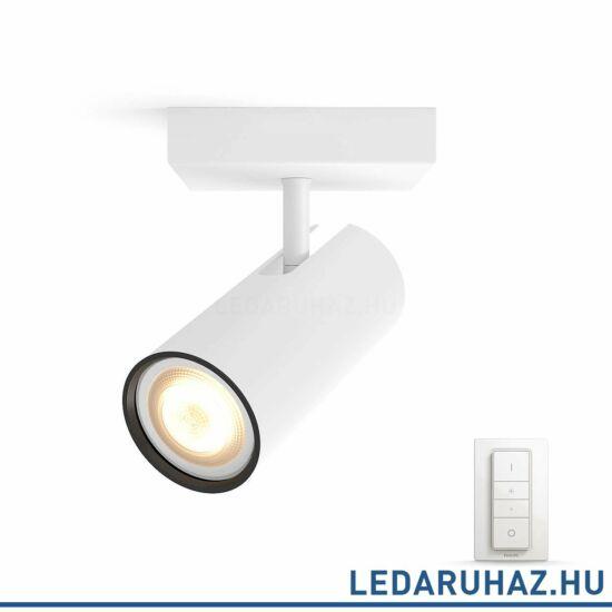 Philips Hue Buratto spotlámpa, fehér, változtatható színhőmérséklet 2200-6500K, 1x5.5W, 250 lm, 50461/31/P7