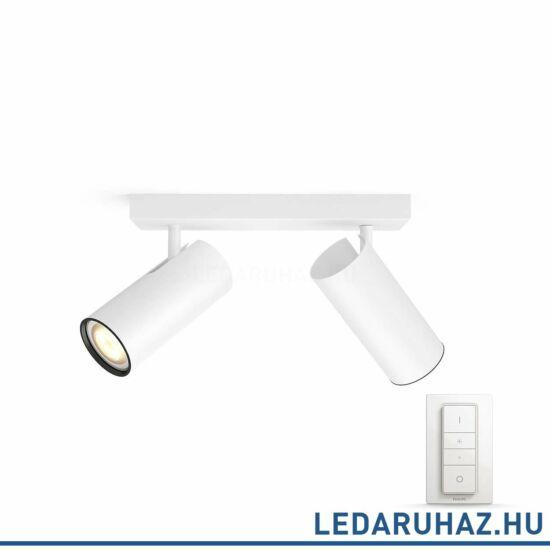 Philips Hue Buratto spotlámpa, fehér, változtatható színhőmérséklet 2200-6500K, 2x5.5W, 500 lm, 50462/31/P7