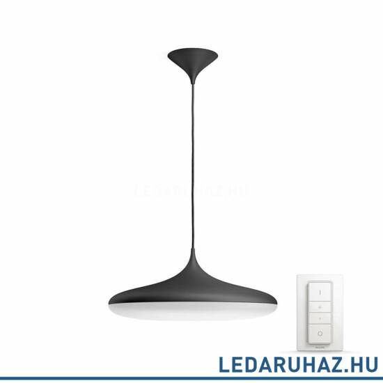 Philips Hue Cher függesztett LED lámpa, fekete, 39W, 3000 lm@4000K, 2200K-6500K + DimSwitch, 40761/30/P7