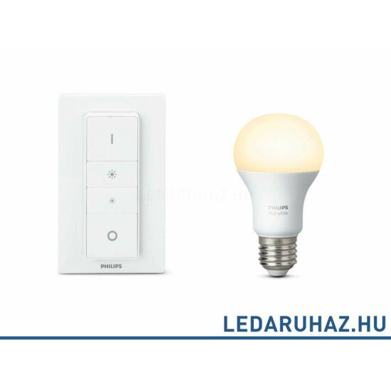 Philips Hue DimKit - vezeték nélküli dimmer kit 1 db. E27 9W=60W 2700K LED fényforrás+fali dimmer, 929001137000