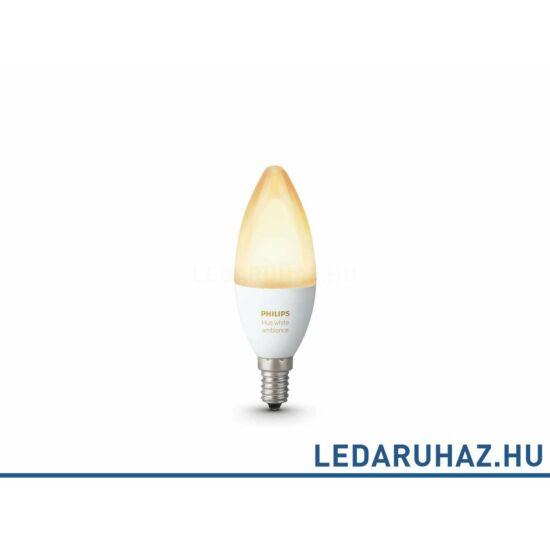 Philips Hue E14 LED fényforrás - 6W - White Ambiance, fehér 2200K-6500K, 8718696695203