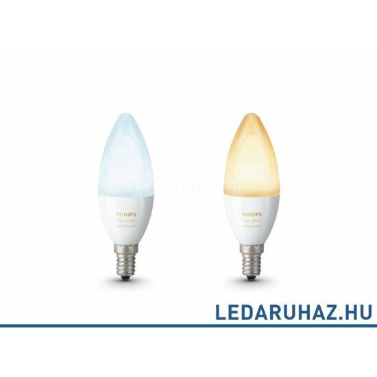 Philips Hue E14 LED fényforrás dupla csomag - 6W - White Ambiance, fehér 2200K-6500K