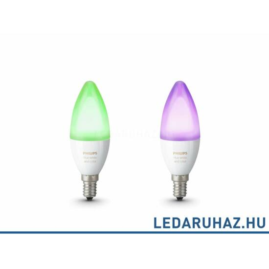 Philips Hue E14 RGBW LED fényforrás dupla csomag - 6.5W - White and Color Ambiance