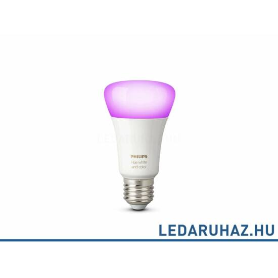 Philips Hue E27 GEN3 Smart LED fényforrás, RGB+White, 9=50W, 806 lumen, 8718696592984