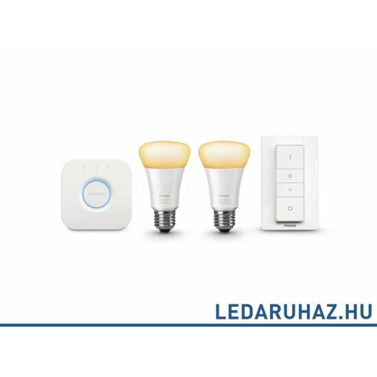 Philips Hue E27 White Ambiance fehér, változtatható színhőmérsékletű 2000K-6500K kezdőcsomag, 8718696548691