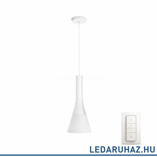Philips Hue Explore függeszték, fehér, 9.5W, 230V, IP20, 2200-6500K, a fényforrást tartalmazza, +DimSwitch, 4300131P7