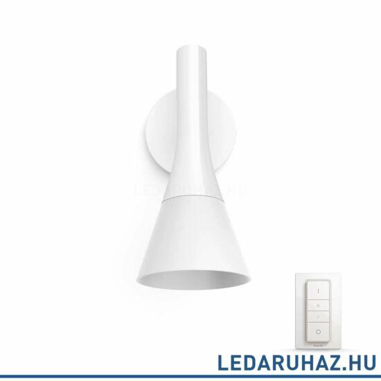 Philips Hue Explore LED fali lámpa, fehér, 6W, 230V, IP20, 2200-6500K, a fényforrást tartalmazza, +DimSwitch, 4300231P7