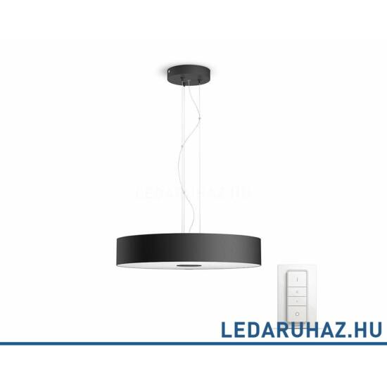 Philips Hue Fair LED függesztett lámpa, fekete, 39W, 3000 lm@4000K, 2200K-6500K + DimSwitch, 40339/30/P7