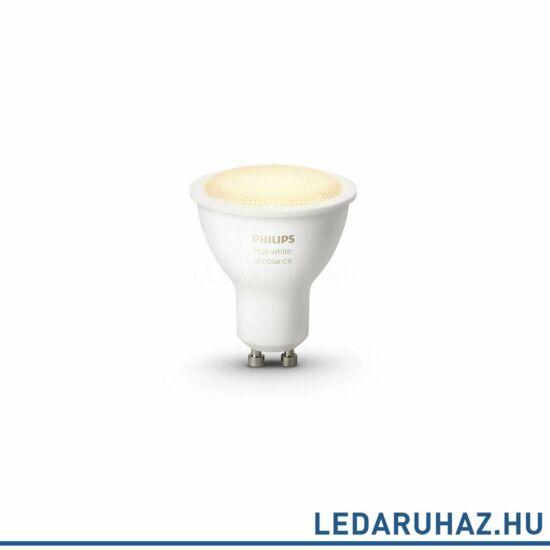 Philips Hue GU10 LED spot, 5,5W, 250lm, 4000K, változtatható színhőmérséklet 2200K-6500K, 8718696598283