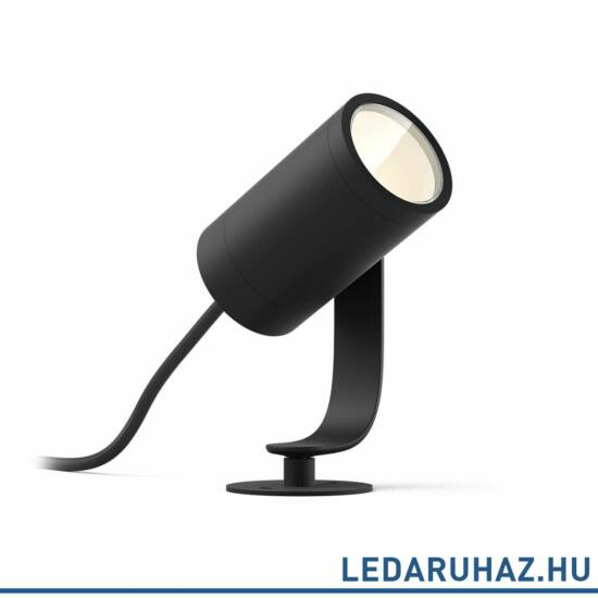 Philips Hue Lily Spike kültéri LED lámpa, leszúrható, antracit, 8W, RGBW, 1741530P7