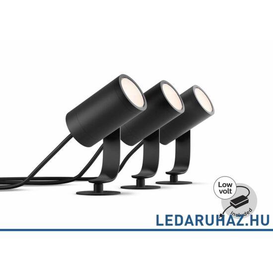 Philips Hue Lily Spike kültéri LED lámpa, leszúrható, antracit, RGBW, 3x8W, 1741430P7