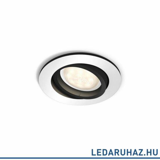 Philips Hue Milliskin süllyeszthető LED spotlámpa, kör, alumínium, 5,5W, 250 lm@4000K, 2200K-6500K, 50411/48/P8