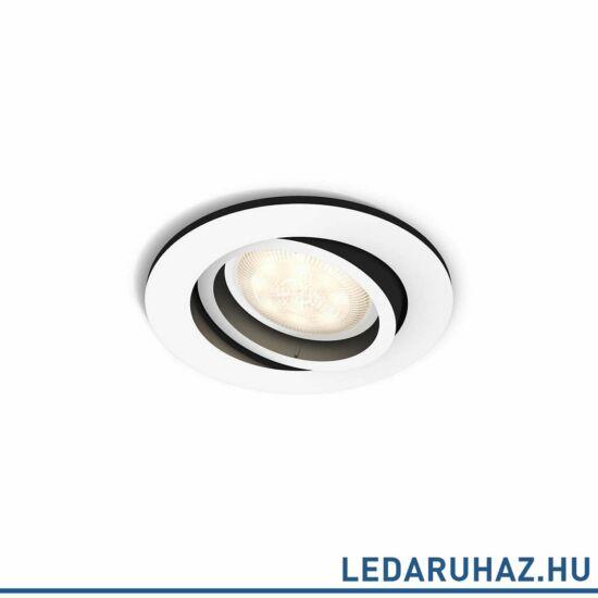 Philips Hue Milliskin süllyeszthető LED spotlámpa, kör, fehér, 5,5W, 250 lm@4000K, 2200K-6500K, 50411/31/P8