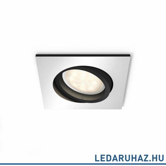 Philips Hue Milliskin süllyeszthető LED spotlámpa, szögletes, alumínium, 5,5W, 250 lm@4000K, 2200K-6500K, 50421/48/P8