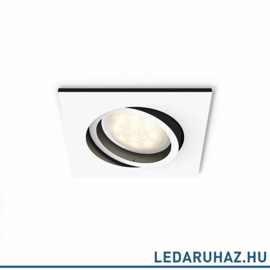 Philips Hue Milliskin süllyeszthető LED spotlámpa, szögletes, fehér, 5,5W, 250 lm@4000K, 2200K-6500K, 50421/31/P8