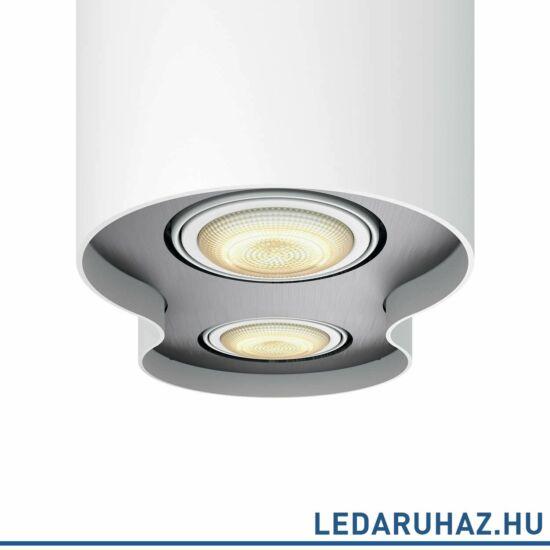 Philips Hue Pillar fehér mennyezeti LED lámpa 2xGU10 spot 2200K-6500K + DimSwitch, 56332/31/P7