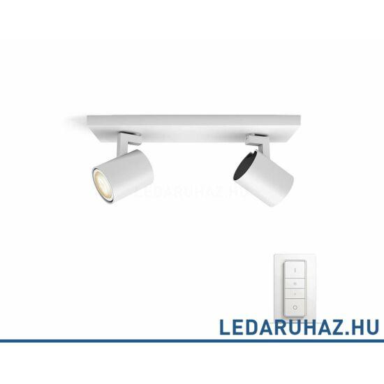Philips Hue Runner dupla mennyezeti fehér LED spot, 2200K-6500K 2xGU10+DimSwitch, 53092/31/P7