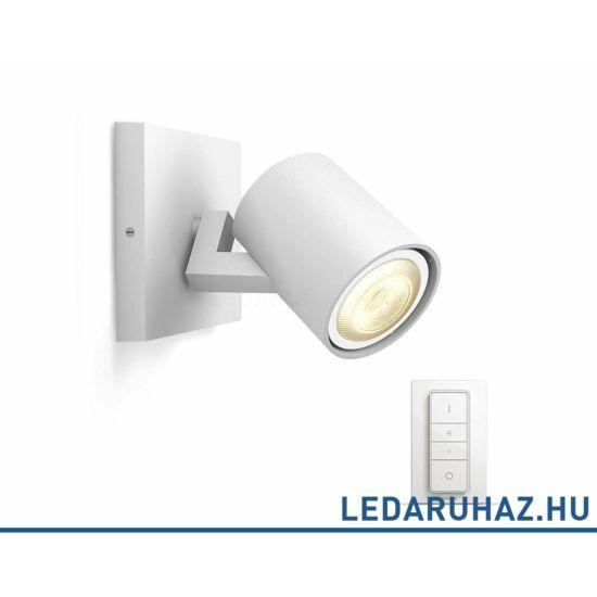 Philips Hue Runner fali/mennyezeti fehér LED spot, 2200K-6500K GU10+DimSwitch, 53090/31/P7