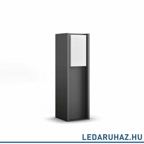 Philips Hue Turaco kültéri LED állólámpa, antracit, 9,5W, 230V, IP44, 2700K mlegefehér fényforrással, 1647393P0