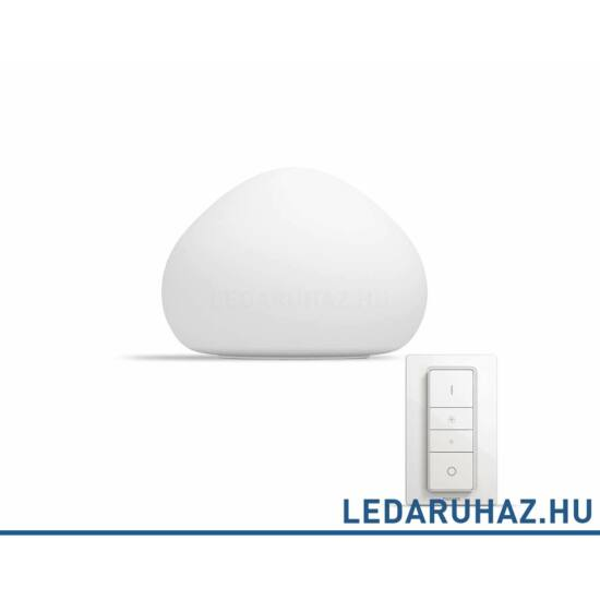 Philips Hue Wellner asztali LED lámpa 9.5W, 2200K-6500K + DimSwitch, 44401/56/P7
