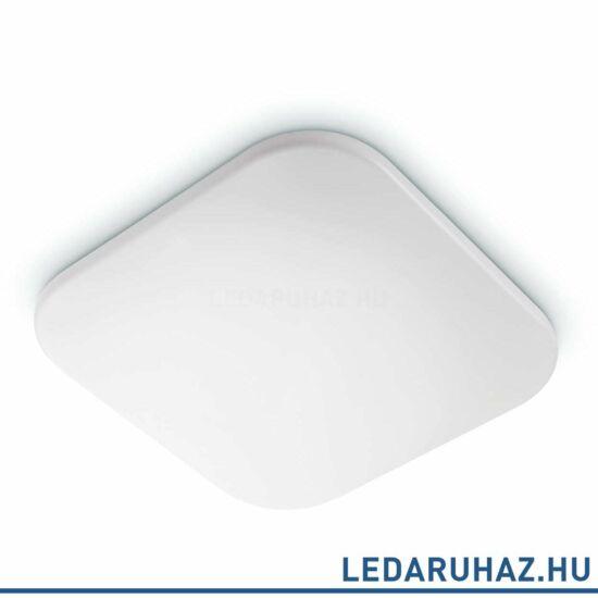 Philips Mauve fehér mennyezeti LED lámpa, szögletes, beépített LED, 2700K melegfehér, 17W, 32,2x32,2 cm, 3111031P0