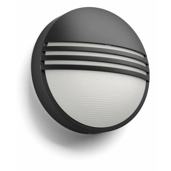 Philips Yarrow kültéri falra szerelhető LED lámpa, fekete, 1x6W, 2700K melegfehér, 172963016