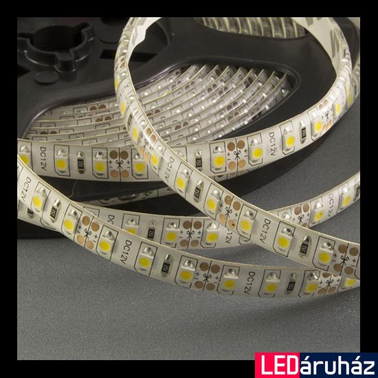 Melegfehér SMD LED szalag 12V 5050 , beltéri 30 LED/m, 7,2W, 3000K