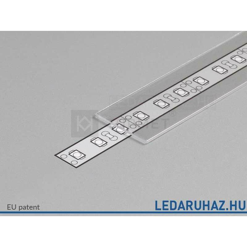 Topmet LED profil előlap E víztiszta - A2040016 - 2m