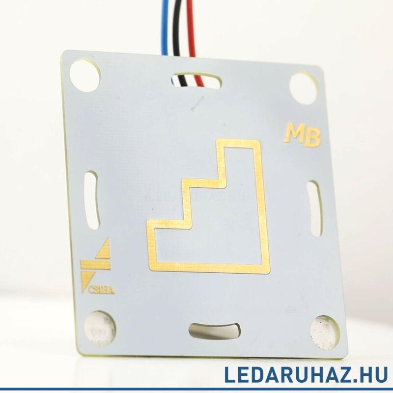 Material Button SEI - rezgésérzékelő, burkolat mögé szerelhető kapcsoló 12V/6A, NFC-vel programozható