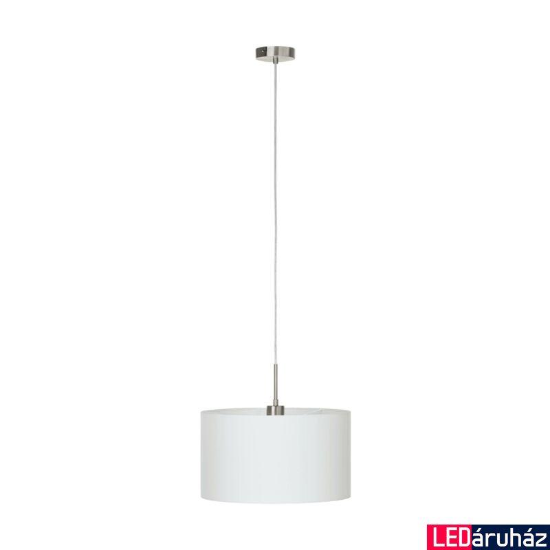 EGLO 31571 PASTERI Textil függesztett lámpa, 38cm, fehér, E27 foglalattal + ajándék LED fényforrás