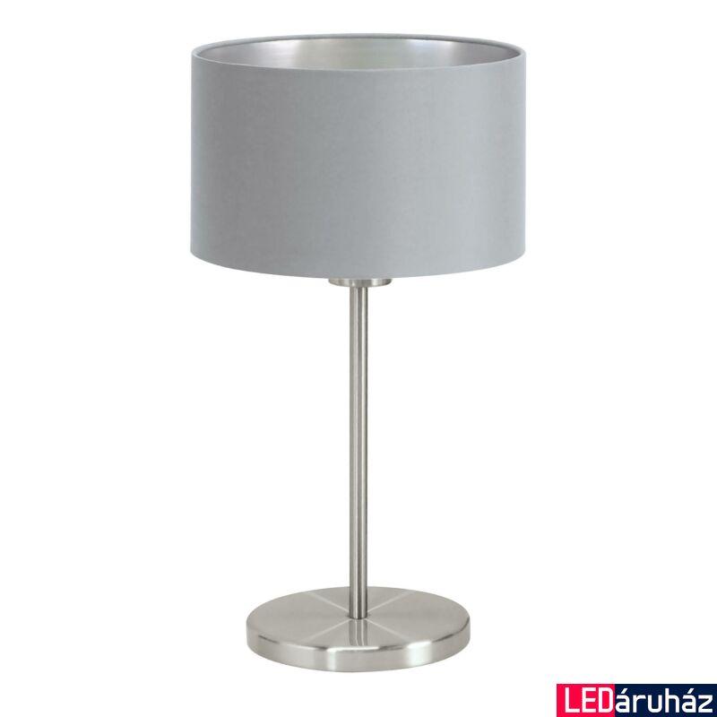 EGLO 31628 MASERLO Textil asztali lámpa, 23cm, szürke, E27 foglalattal + ajándék LED fényforrás
