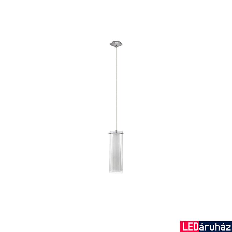 EGLO 89832 PINTO Dupla búrás egyágú függeszték, üveg/opál üveg bura, áttetsző/fehér szín, 11cm átmérő, E26 + ajándék LED fényforrás